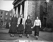 Dancers - McCoy School, Belfast, to visit New York in Traditional Irish Costumes.02/03/1955