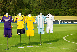 Jerseys of NK Maribor, Celje, Domzale, Gorica and Krsko during NZS Draw for season 2016/17, on June 24, 2016 in Brdo pri Kranju, Slovenia. Photo by Vid Ponikvar / Sportida