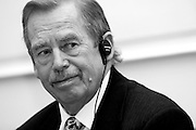 "Former Czech President Vaclav Havel during a ceremony at the Prague Goethe Institute receiving the ""Dolf Sternberg"" price on the 23rd of October 2007 (archive image). Havel died on the 18th of December 2011 in the age of 75 years."