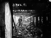 1958 - Fire at Ormond Quay, Dublin