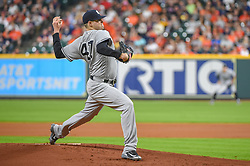 May 1, 2018 - Houston, TX, U.S. - HOUSTON, TX - MAY 01: New York Yankees pitcher Jordan Montgomery (47) delivers a pitch during the baseball game between the New York Yankees and Houston Astros on May 1, 2018 at Minute Maid Park in Houston, Texas (Photo by Ken Murray/Icon Sportswire) (Credit Image: © Ken Murray/Icon SMI via ZUMA Press)