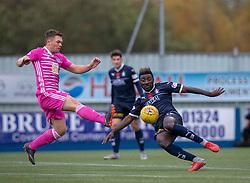 Ayr United's Craig Moore and Falkirk's Prince Buaben. Falkirk 0 v 1 Ayr United, Scottish Championship game played 3/11/2018 at The Falkirk Stadium.