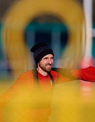CARDIFF, WALES - Sunday, November 18, 2018: Wales' Joe Allen during a training session at the Vale Resort ahead of the International Friendly match between Albania and Wales. (Pic by David Rawcliffe/Propaganda)