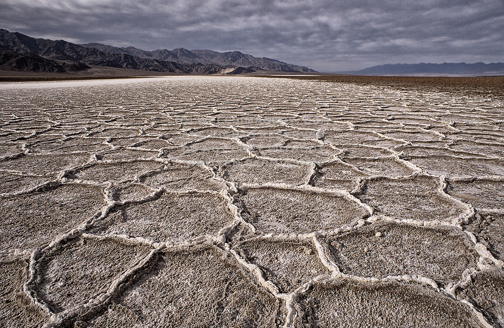 Image of Salt Flats in Badwater Basin, Death Valley National Park, California, America west coast by Randy Wells