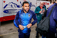 Wimbledon midfielder Andy Barcham (17) arrives during the The FA Cup 3rd round match between Fleetwood Town and AFC Wimbledon at the Highbury Stadium, Fleetwood, England on 5 January 2019.