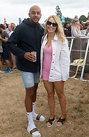 RIchard Sutton and Katie Piper  at the Big Feastival 2021 on Alex James Cotswolds farm, Kingham oxfordshire