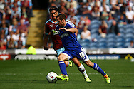Alan Judge of Brentford looks to get away from George Boyd of Burnley. Skybet football league championship match, Burnley  v Brentford at Turf Moor in Burnley, Lancs on Saturday 22nd August 2015.<br /> pic by Chris Stading, Andrew Orchard sports photography.