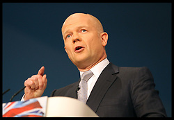 Foreign Secretary William Hague's speech at  the Conservative Party Conference in Birmingham, Sunday,  October 7th 2012. Photo by: Stephen Lock / i-Images