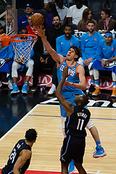 March 10, 2018 - Los Angeles, CA, U.S. - LOS ANGELES, CA - MARCH 10: LA Clippers center Boban Marjanovic (51) dives the ball into the basket during the game between the Orlando Magic and the LA Clippers on March 10, 2018, at STAPLES Center in Los Angeles, CA. (Photo by David Dennis/Icon Sportswire) (Credit Image: © David Dennis/Icon SMI via ZUMA Press)