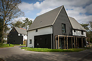 Completed Passivhaus homes on a brand new house construction site in Norwich. Norfolk. United Kingdom