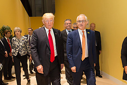 "Donald Trump releases a photo on Instagram with the following caption: ""President Trump and Australia's Prime Minister Malcom Turnbull catching up at the #G20Summit in #Hamburg, #Germany. \n#USA\ud83c\uddfa\ud83c\uddf8 #AUS\ud83c\udde6\ud83c\uddfa"". Photo Credit: Instagram *** No USA Distribution *** For Editorial Use Only *** Not to be Published in Books or Photo Books ***  Please note: Fees charged by the agency are for the agency's services only, and do not, nor are they intended to, convey to the user any ownership of Copyright or License in the material. The agency does not claim any ownership including but not limited to Copyright or License in the attached material. By publishing this material you expressly agree to indemnify and to hold the agency and its directors, shareholders and employees harmless from any loss, claims, damages, demands, expenses (including legal fees), or any causes of action or allegation against the agency arising out of or connected in any way with publication of the material."