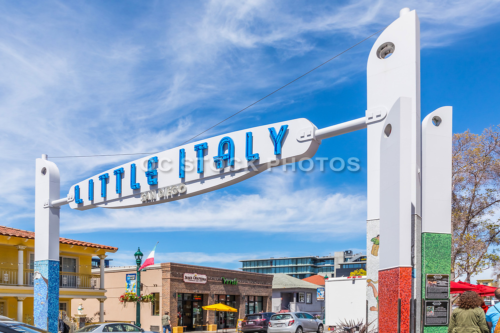 Little Italy Signage in Downtown San Diego