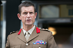 "© Licensed to London News Pictures. 14_07_2015. Solihull, West Midlands, UK. Pictured, BRIGADIER JOHN DONNELLY reads astatement on behalf of the Army. The inquest into the deaths of three army reservists taking place at Solihull Council House. Edward Maher, Craig Roberts and James Dunsby died after collapsing during an SAS training exercise on the Brecon Beacons in July 2013. The soldiers, from Hampshire, North Wales and Wiltshire, all suffered heatstroke during the 16-mile ""test week"" march. Photo credit : Dave Warren/LNP"
