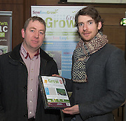 29/02/2014  Eoin Flannery Sow Easy Grow and John Mulry  at the annual SCCUL Enterprise Awards prize giving ceremony and business expo which was hosted by NUI Galway in the Bailey Allen Hall, NUIG. Photo:Andrew Downes  at the SCCUl Enterprise  business expo which was hosted by NUI Galway in the Bailey Allen Hall, NUIG .  Photo:Andrew Downes