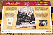 Interpretive sign at the Banff Museum, Banff National Park, Alberta, Canada