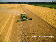 63801-11509 Combines harvesting wheat-aerial Marion Co.  IL
