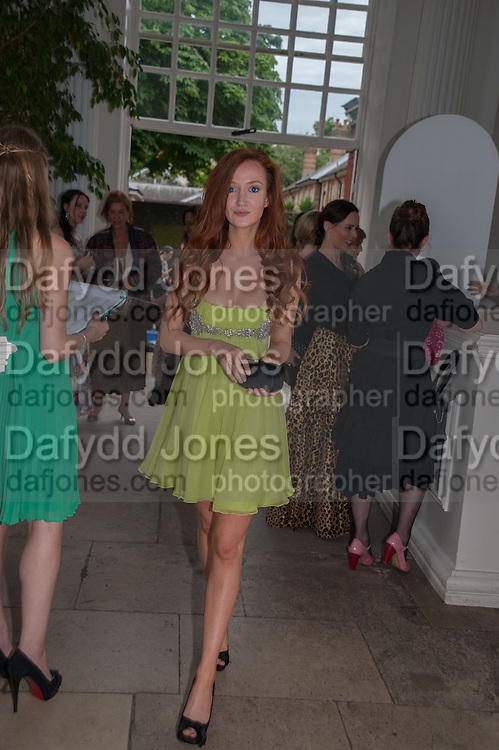 OLIVIA GRANT, English National Ballet  evening of art, ballet and live performance inspired by Swan Lake, The Orangery, Kensington Palace London.  27 June 2012