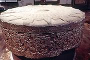 MEXICO, MEXICO CITY, MUSEUM Aztec: Tizoc Stone dedicated to sun