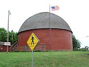 USA, Oklahoma, Arcadia, Round Barn built in 1898 on Historic Route 66.