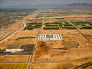 02 MAY 2015 - PHOENIX, ARIZONA, USA:  The Salt River Indian Reservation near Scottsdale and Tempe, AZ. The Loop 101 is left center of the photo, Scottsdale is left (west) of the highway.   PHOTO BY JACK KURTZ
