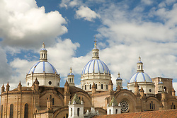 Cathedral of Immaculate Conception, built 1885, Cuenca, Ecuador, South America.  Cuenca is a UNESCO World Heritage Site.