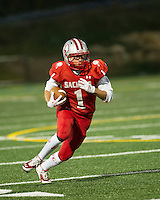 Laconia High School Homecoming football with Manchester West Friday, September 19, 2014.  Karen Bobotas / for the Laconia Daily Sun