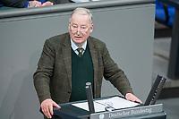 21 MAR 2019, BERLIN/GERMANY:<br /> Alexander Gauland, AfD Fraktionsvorsittzender, Bundestagsdebatte zur Regierungserklaerung der Bundeskanzlerin zum Europaeischen Rat, Plenum, Deutscher Bundestag<br /> IMAGE: 20190321-01-056