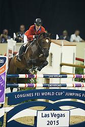 Coe Kirsten, (USA), Czardas<br /> Longines FEI World Cup™ Jumping Final I<br /> Las Vegas 2015<br />  © Hippo Foto - Dirk Caremans<br /> 17/04/15