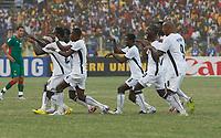 Photo: Steve Bond/Richard Lane Photography.<br /> Ghana v Morocco. Africa Cup of Nations. 28/01/2008. Michael Essien celebrates