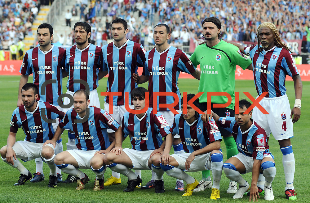 Trabzonspor's players during their Turkey Cup final match Trabzonspor between Fenerbahce at the GAP Arena Stadium at Urfa Turkey on wednesday, 05 May 2010. Photo by TURKPIX