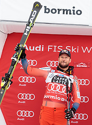 28.12.2017, Stelvio, Bormio, ITA, FIS Weltcup, Ski Alpin, Abfahrt, Herren, Flower Zeremonie, im Bild Aksel Lund Svindal (NOR, 2. Platz) // second placed Aksel Lund Svindal of Norway during the Flowers ceremony for the men's downhill of FIS Ski Alpine World Cup at the Stelvio course, Bormio, Italy on 2017/12/28. EXPA Pictures © 2012, PhotoCredit: EXPA/ Johann Groder