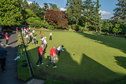 Playing Lawn Bowls in Keswick, in Lake District National Park, Cumbria county, England, UK, Europe. England Coast to Coast hike with Wilderness Travel, day 3 of 14: overnight at Keswick Country House. [This image, commissioned by Wilderness Travel, is not available to any other agency providing group travel in the UK, but may otherwise be licensable from Tom Dempsey – please inquire at PhotoSeek.com.]