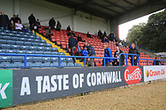 Ginsters advertising during the EFL Sky Bet League 1 match between Rochdale and Gillingham at Spotland, Rochdale, England on 15 September 2018.