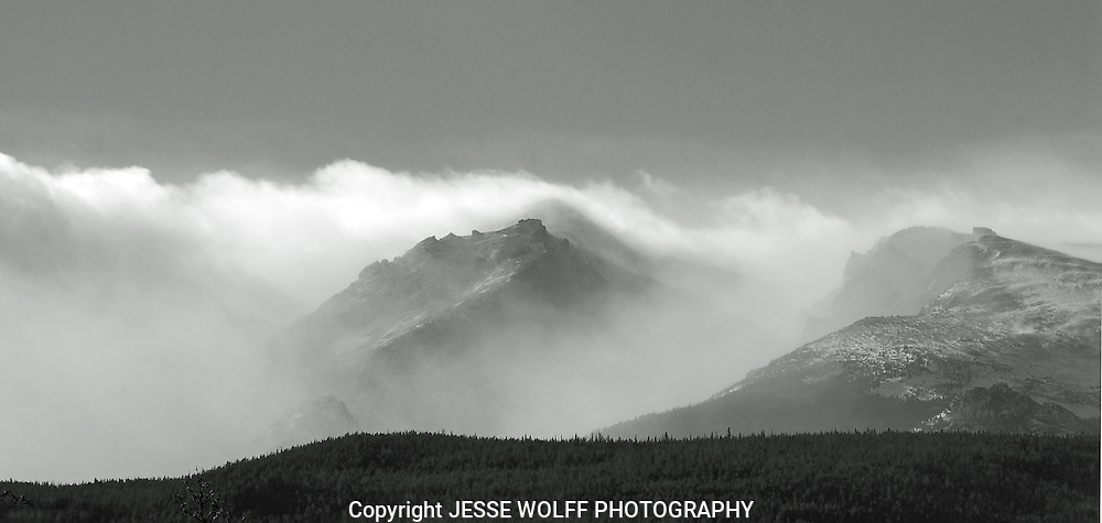 Finally... a shot of the mountains!  One of the peaks in Rocky Mountain National Park.