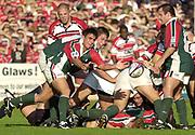 Gloucester, Gloucestershire, UK., 11th October 2003,  Kingsholm Stadium, Zurich Premiership Rugby, [Mandatory Credit: Peter Spurrier/Intersport Images],<br /> <br /> 11/10/2003 - Photo  Peter Spurrier<br /> 2003/04 Zurich Premiership Rugby: Gloucester v Leicester <br /> Harry Ellis