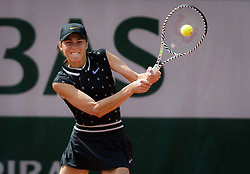 May 23, 2019 - Paris, FRANCE - Natalia Vikhlyantseva of Russia in action during the second qualification round at the 2019 Roland Garros Grand Slam tennis tournament (Credit Image: © AFP7 via ZUMA Wire)