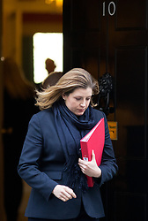 © Licensed to London News Pictures. 30/01/2018. London, UK. International Development Secretary Penny Mordaunt leaving Downing Street after attending a Cabinet meeting this morning. Photo credit : Tom Nicholson/LNP