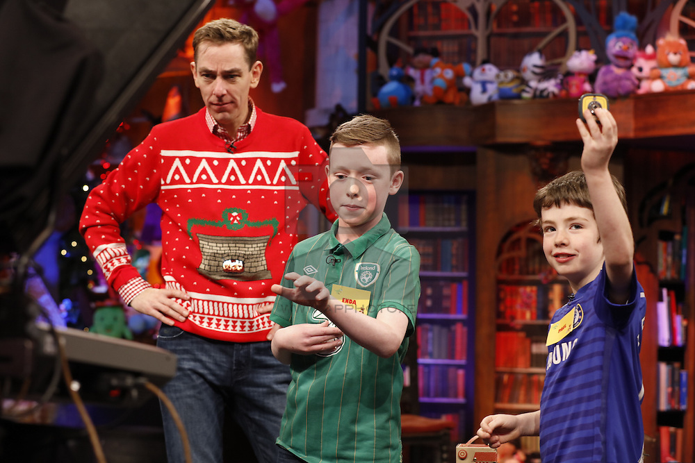 The Late Late Toy Show 2015 – Toy testing brothers Enda (8) and Paul (11) Keating  from Mullingar, Westmeath. Part 5. Pic Andres Poveda