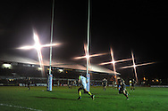 Ashley Beck of the Ospreys runs in to score his try.  Rabodirect Pro12 rugby match, Newport Gwent Dragons v Ospreys at Rodney Parade in Newport, South Wales on New Years Eve, Monday 31st Dec 2012. pic by Andrew Orchard, Andrew Orchard sports photography,