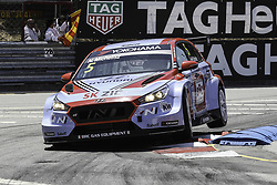 June 23, 2018 - Vila Real, Vila Real, Portugal - Norbert Michelisz from Hungary in Hyundai i30 N TCR of BRC Racing Team in action during the Race 1 of FIA WTCR 2018 World Touring Car Cup Race of Portugal, Vila Real, June 23, 2018. (Credit Image: © Dpi/NurPhoto via ZUMA Press)