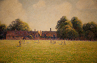 National Gallery, Washington DC. Impressionist painting of people in a field