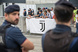 July 16, 2018 - Turin, Piedmont, Italy - Turin,Italy-July 16, 2018: Juventus fans await Cristiano Ronaldo in the J Village (Credit Image: © Stefano Guidi via ZUMA Wire)