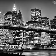 View of Manhattan from Brooklyn across the East River