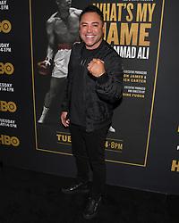 May 8, 2019 - Los Angeles, California, USA - 08, May 2019 - Pasadena, California. Oscar de la Hoya attends 'What's My Name | Muhammad Ali' HBO Documentary Premiere at Regal Cinemas LA LIVE 14 in Los Angeles, California. (Credit Image: © Billy Bennight/ZUMA Wire)