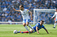 Coventry City Midfielder, Liam Kelly (6) wins th ball from Portsmouth Midfielder, Ben Close (33) during the EFL Sky Bet League 1 match between Portsmouth and Coventry City at Fratton Park, Portsmouth, England on 22 April 2019.
