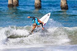 Rachel Presti (USA) advances to the Semifinals of the 2918 Junior Women's VANS US Open of Surfing after winning Quarterfinal Heat 2 of Round 1 at Huntington Beach, CA, USA.