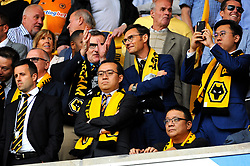 Wolverhampton Wanderers owner Jeff Shi watches the match from the stand- Mandatory by-line: Nizaam Jones/JMP - 11/08/2018/ - FOOTBALL -Molineux  - Wolverhampton, England - Wolverhampton Wanderers v Everton - Premier League