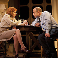 """The Lyceum present the World Premiere of Pressure<br /> By David Haig<br /> <br /> Picture shows : Laura Rogers as  Kay Summersby and<br />  David Haig – Group Captain Dr. James Stagg <br /> <br /> <br /> Picture : Drew Farrell<br /> Tel : 07721 -735041<br /> www.drewfarrell.com<br /> Directed by John Dove<br /> A co-production with Chichester Festival Theatre<br /> June 1944. One man's decision is about to change the course of history.<br /> <br /> Cast<br /> David Haig – Group Captain Dr. James StaggLaura Rogers – Kay SummersbyRobert Jack – AndrewAnthony Bowers – Lieutenant Battersby/ Captain JohnsScott Gilmour – Young Naval RatingMalcolm Sinclair – General Dwight D """"Ike"""" EisenhowerTim Beckmann – Colonel Irving P. KrickMichael Mackenzie – Electrician/Admiral Bertram """"Bertie"""" RamsayAlister Cameron – Air Chief Marshall Sir Trafford Leigh-MalloryGilly Gilchrist – General """"Tooey"""" Spaatz/Commander Franklin<br /> Creative Team<br /> Director - John DoveDesigner - Colin RichmondLX Designer - Tim MitchellDeputy LX Designer - Guy JonesComposer/Sound Design - Philip PinskyVideo Designer - Andrzej Goulding<br /> An intense real-life thriller centred around the most important weather forecast in the history of warfare.Scottish meteorologist, Group Captain James Stagg, the son of a Dalkeith plumber, must advise General Eisenhower on when to give the order to send thousands of waiting troops across the Channel in Operation Overlord.In what became the most volatile period in the British Isles for over 100 years, the future of Britain, Europe and our relationship with the United States, rested on the shoulders of one reluctant Scotsman.<br /> Pressure is the extraordinary and little known story of a Scot who changed the course of war, and our lives, forever.David Haig is a four time nominee and Olivier Award winning actor best known for his roles in the film Four Weddings and a Funeral , TV series The Thin Blue Line and stage production The Madness of King George III (National Th"""