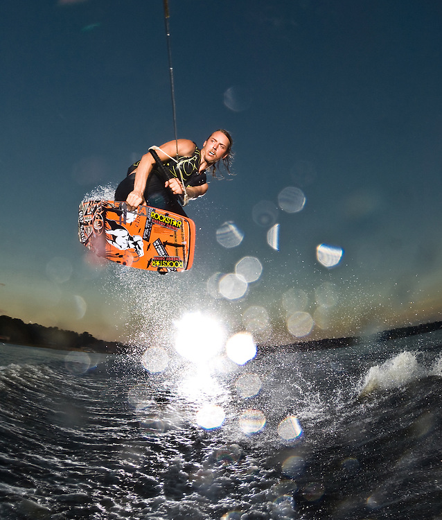 Reed Hansen shot for the cover of Alliance Wakeboard Magazine in Clermont, Florida.