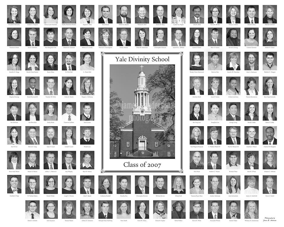 2007 Yale Divinity School Senior Portraits Composite Photograph